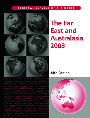 The Far East and Australasia 2003 book cover