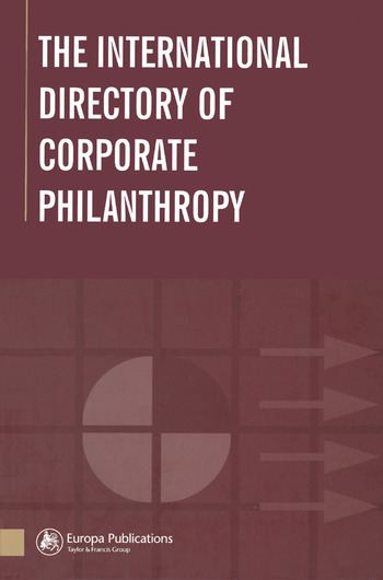 The International Directory of Corporate Philanthropy book cover