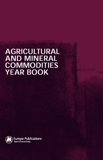 Agricultural and Mineral Commodities Year Book book cover