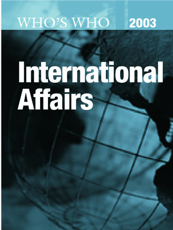 Who's Who in International Affairs 2003 book cover