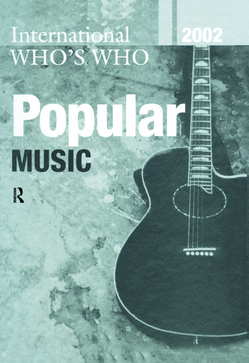 Intl Whos Who Popular Mus 2002 book cover
