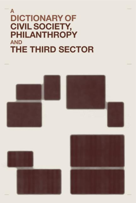 A Dictionary of Civil Society, Philanthropy and the Third Sector book cover