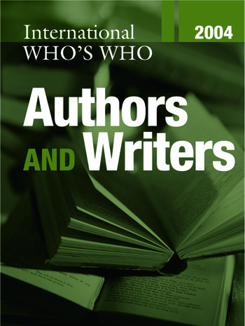 International Who's Who of Authors and Writers 2004 book cover