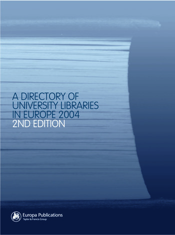 The Directory of University Libraries in Europe 2004 book cover