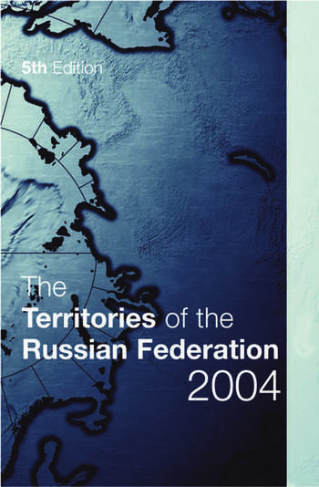The Territories of the Russian Federation 2004 book cover