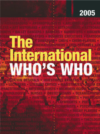 The International Who's Who 2005 book cover