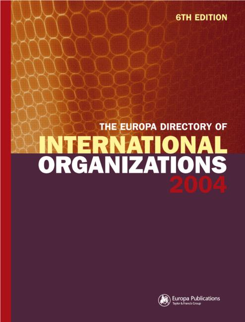 The Europa Directory of International Organizations 2004 book cover
