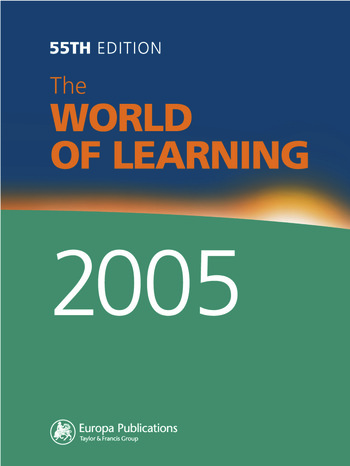 The World of Learning 2005 book cover