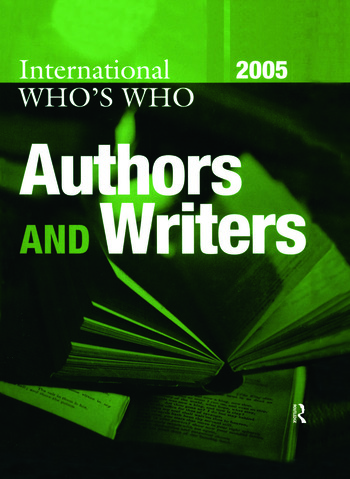 International Who's Who of Authors and Writers 2005 book cover