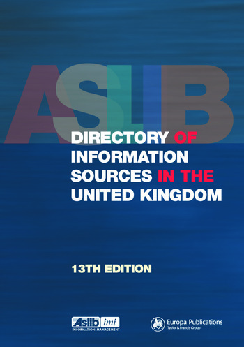Aslib Directory of Information Sources in the United Kingdom book cover