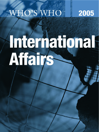 Who's Who in International Affairs 2005 book cover