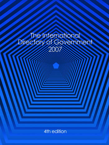 International Directory of Government 2007 book cover