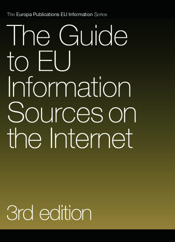 The Guide to EU Information Sources on the Internet book cover