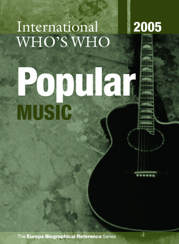 International Who's Who in Popular Music 2005 book cover
