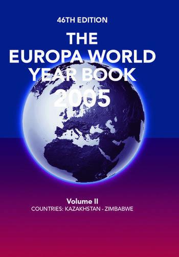 Europa World Year Book 2005 Vo book cover