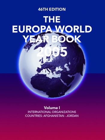 The Europa World Year Book 2005 book cover