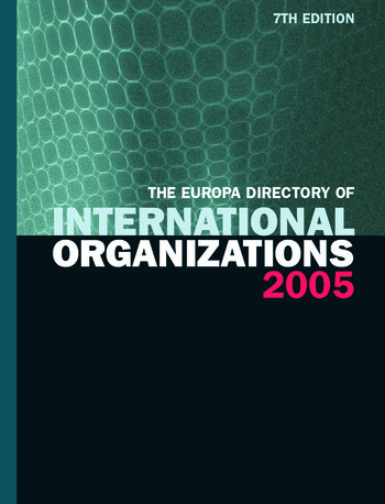 The Europa Directory of International Organizations 2005 book cover