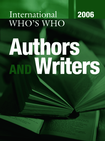 International Who's Who of Authors and Writers 2006 book cover