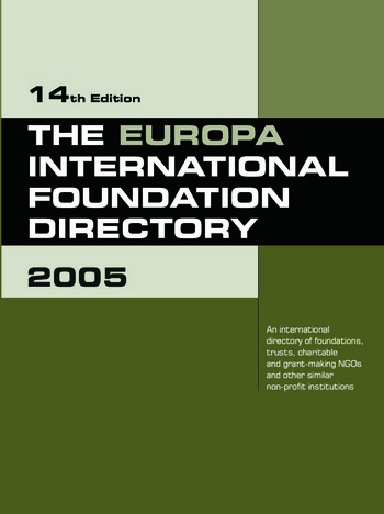 The Europa International Foundation Directory 2005 book cover