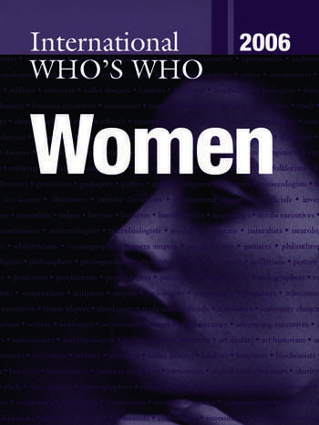 International Who's Who of Women 2006 book cover