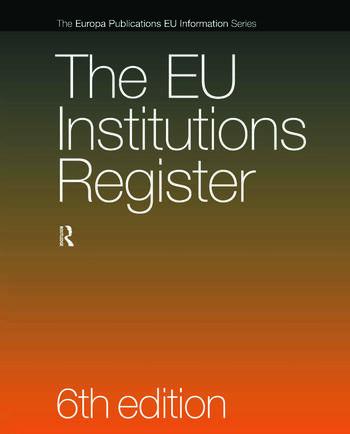 The EU Institutions Register book cover