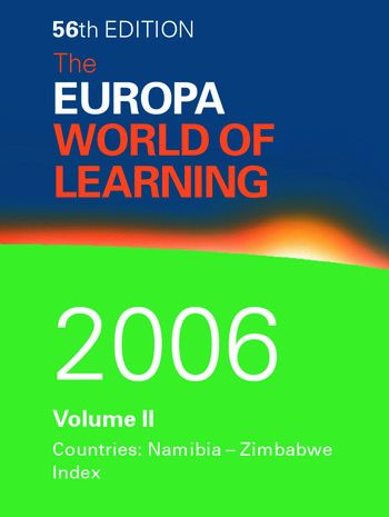 The World of Learning 2006 Volume 2 book cover