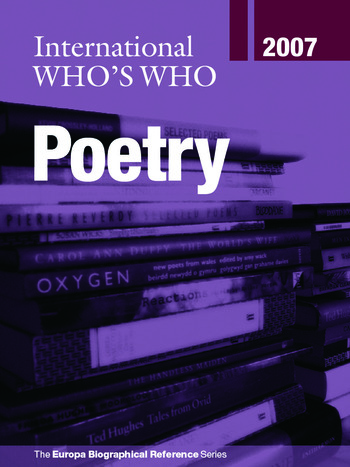 International Who's Who in Poetry 2007 book cover