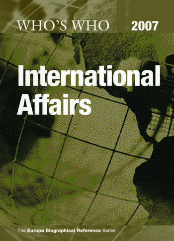 Who's Who in International Affairs 2007 book cover