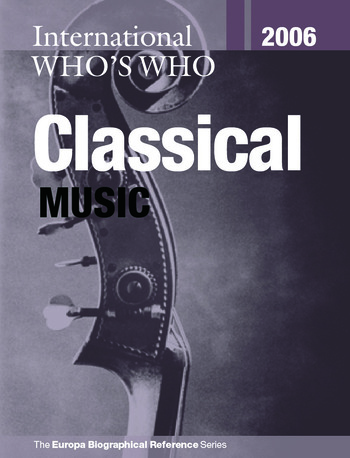 International Who's Who in Classical Music 2006 book cover