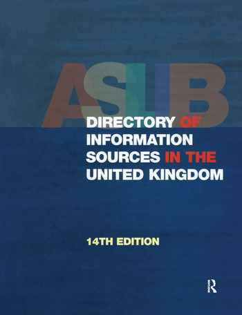 The Aslib Directory of Information Sources in the United Kingdom book cover