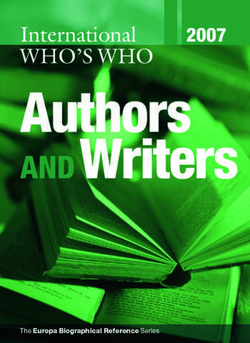 International Who's Who of Authors and Writers 2007 book cover