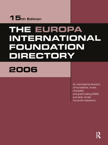 The Europa International Foundation Directory 2006 book cover