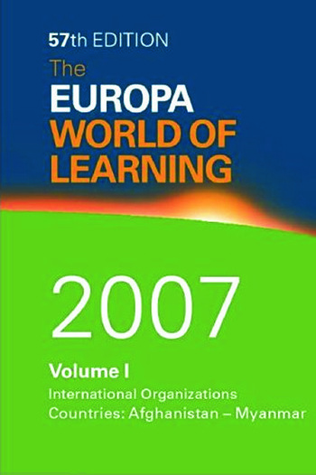 The Europa World of Learning 2007 book cover