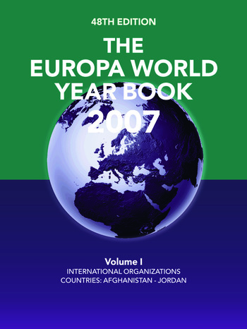 The Europa World Year Book 2007 book cover