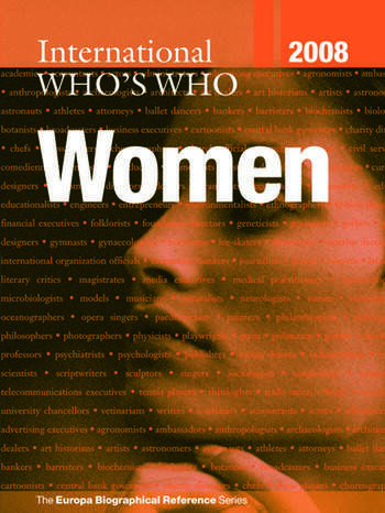 International Who's Who of Women 2008 book cover