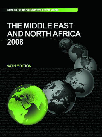The Middle East and North Africa 2008 book cover