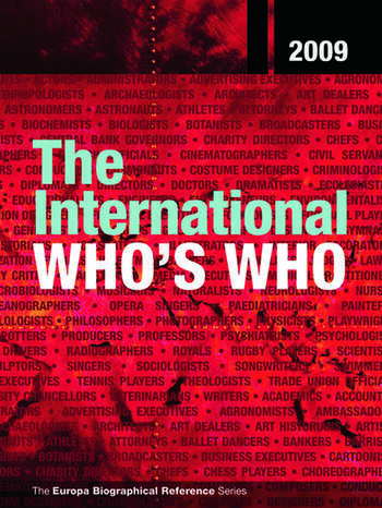 The International Who's Who 2009 book cover