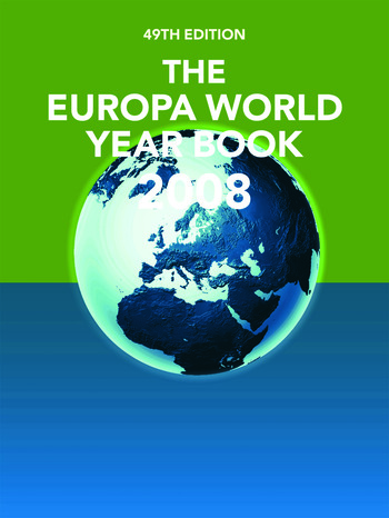 The Europa World Year Book 2008 book cover