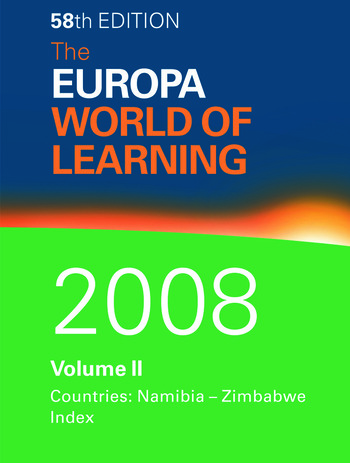 The Europa World of Learning 2008 Volume 2 book cover