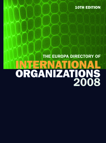 Europa Directory of International Organizations 2008 book cover