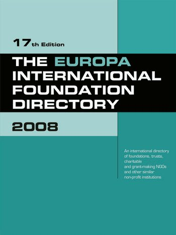 The Europa International Foundation Directory 2008 book cover