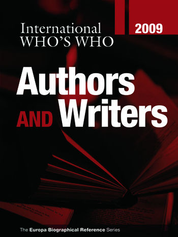 International Who's Who of Authors & Writers 2009 book cover