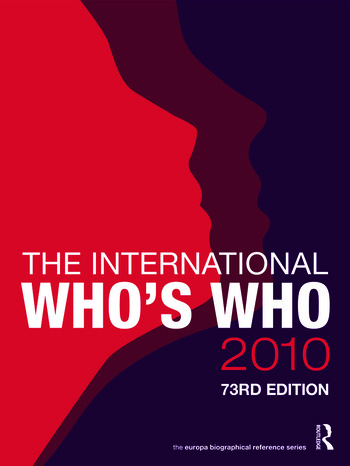 The International Who's Who 2010 book cover