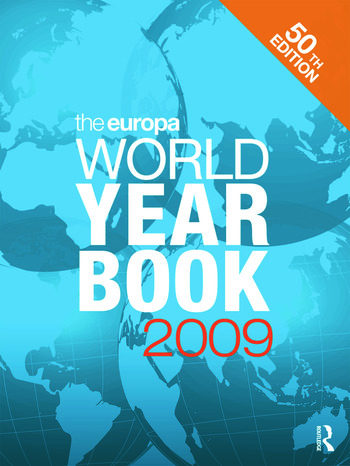 The Europa World Year Book 2009 book cover