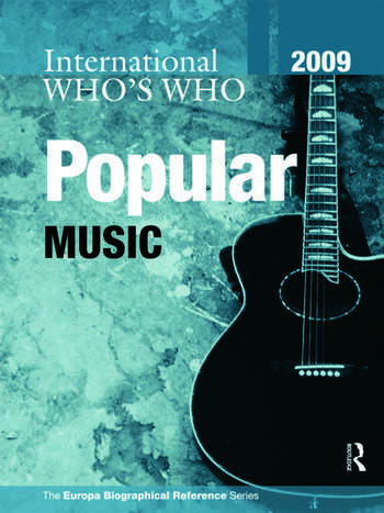 International Who's Who in Popular Music 2009 book cover