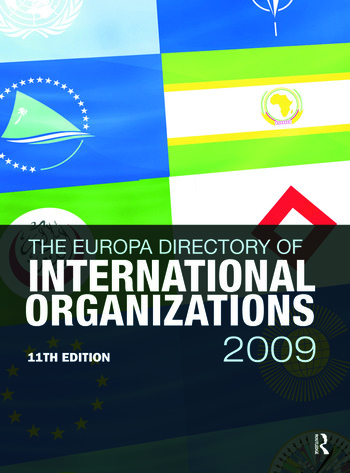 Europa Directory of International Organizations 2009 book cover