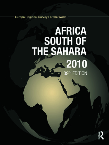 Africa South of the Sahara 2010 book cover