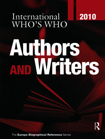International Who's Who of Authors & Writers 2010 book cover