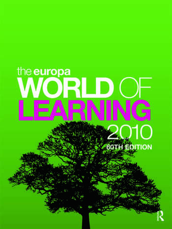 The Europa World of Learning 2010 book cover