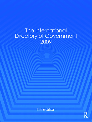 International Directory of Government 2009 book cover